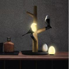 Magpie Bird Night Lights Home Lighting Design, Interior Lighting, Lighting Ideas, Led Night Light, Night Lights, Light Art, Lamp Light, Room Lights, Ceiling Lights