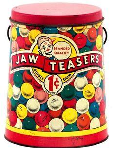 Jaw Teaser's vintage tin