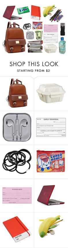 """""""OHSHC - What's in my Bag"""" by haruhii ❤ liked on Polyvore featuring Crate and Barrel, H&M, Blue Q, Speck and Pantone Universe"""