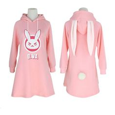 Overwatch D.VA Bunny Autumn and Winter Sweater Dress SD02139