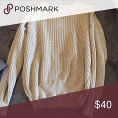 American apparel oatmeal fisherman pullover Used gently American Apparel Sweaters