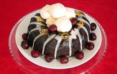 Tulband met dronken kersen, vegan Kerst dessert   Bakken Zonder Beesten