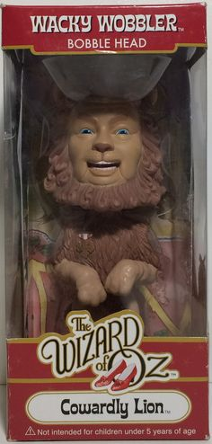 (TAS031758) - Wacky Wobbler Bobble Head - The Wizard Of Oz Cowardly Lion