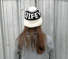 Wifey Toque - Knitting pattern by Lady Jay Crochet. Modern monogrammed adult knit beanie - Bride-to-be hat. #fairisle #monogram #wifey #wifehat #wifeyhat #knit #knitting #knithat #knitfairisle #modernhat