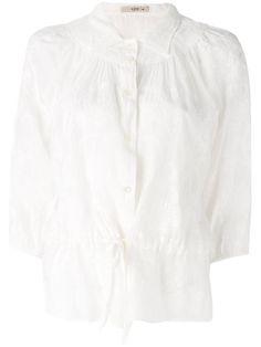ETRO Embroidered Semi-Sheer Blouse. #etro #cloth #blouse