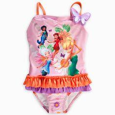 Tinker Bell Deluxe Swimsuit for Girls