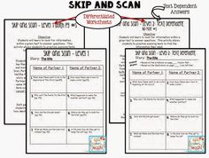 Skip and Scan. 2 Different levels. Level 2 requires text dependent answers. Great for comprehension. Blog explains how this worksheet is used.    First Grade Houghton Mifflin Theme 5 resources. Over 250 pages of worksheets. There's Thinking Maps and Depth and Complexity icons.