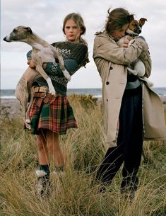 """""""Open Season"""": Stella Tennant, Isabella Cawdor, Jean Campbell & Family by Tim Walker for UK Vogue July 2016   The Terrier and Lobster"""