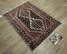 4x5 Persian Afshar Vintage Hand-Knotted Rug by VintageRugsCarpets