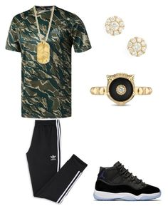 """Dope Outfits"" by sonictheincrediblefox on Polyvore featuring adidas, Degs & Sal, Bony Levy, Gucci, men's fashion and menswear"
