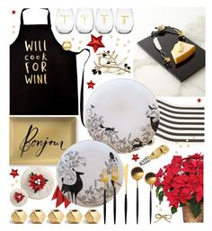 """beautiful entertaining"" by cutandpaste ❤ liked on Polyvore featuring interior, interiors, interior design, home, home decor, interior decorating, Fringe, Michael Aram, Christopher Jagmin and Waterford"