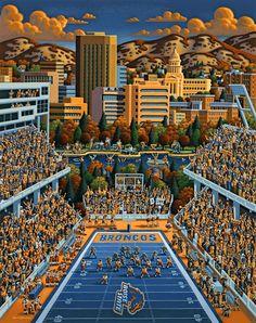 Boise State Football by Eric Dowdle - Boise, Idaho