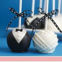 wedding cake pops soooo cute ❤️ -repinned from California wedding officiant https://OfficiantGuy.com
