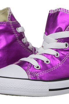 Converse Kids Chuck Taylor All Star Hi Metallic (Infant/Toddler) (Magenta Glow/Black/White) Girl's Shoes - Converse Kids, Chuck Taylor All Star Hi Metallic (Infant/Toddler), 755556F-522, Footwear Closed General, Closed Footwear, Closed Footwear, Footwear, Shoes, Gift, - Street Fashion And Style Ideas