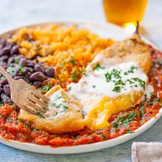 This authentic chile relleno recipe is a traditional Mexican dish of flavorful chilies stuffed with cheese, battered & fried, & smothered in homemade sauce. Bean Recipes, Chili Recipes, Mexican Food Recipes, Ethnic Recipes, Authentic Chile Relleno Recipe, My Favorite Food, Favorite Recipes, Traditional Mexican Dishes, Creamy Potato Salad