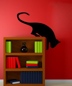 Vinyl Wall Decal Sticker Hanging Cat #5491 | Stickerbrand wall art decals, wall graphics and wall murals.