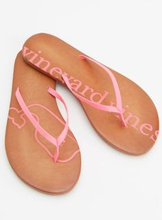 Make a splash with our women's leather flip flops on the beach or off! We've taken these dressier shoes and given them an edge with the bright neon on the thong.