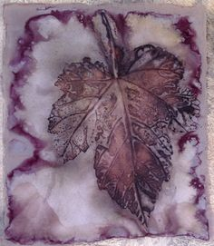 Eco print by Marilyn Stephens artist.