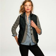 womens vest 15 Warm up and look cute with a VEST (25 photos)