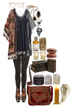 """""""Decadent Musk"""" by morbid-octobur ❤ liked on Polyvore featuring Miguelina, Natalie B, Bellagio, HOBO, Kite and Butterfly, Le Labo, Jayson Home and kitchen"""