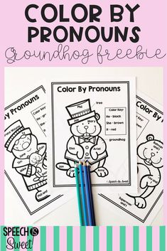 A freebie for Groundhog's Day! Students will love these color by pronoun pages! These are great for winter speech-language therapy or grammar lessons!