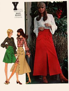 Vintage 70s Butterick 5895 MARY QUANT Boho Blouse by sandritocat