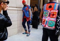After London, Florence, Milan, and Paris, comes New York, arguably the town where street style was born. Phil Oh is capturing all the action at the Spring 2017 men's shows for Vogue.com.