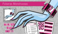 Pulseras monstruosas para fiesta Monster High