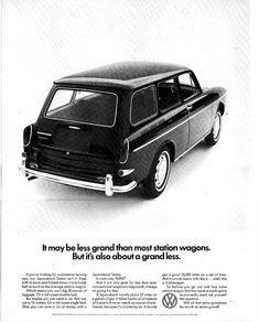 1967 Volkswagen Squareback Wagon Ad - USA by Five Starr Photos (… Ferdinand Porsche, Chevrolet Camaro, Pontiac Firebird, Plymouth Barracuda, Vw Variant, Volkswagen Type 3, Vw Vintage, Vintage Stuff, Vintage Signs