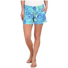 Lilly Pulitzer Callahan Short Women's Shorts ($64) ❤ liked on Polyvore featuring shorts, flat front shorts, lilly pulitzer, zipper shorts, short shorts and lilly pulitzer shorts