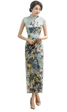 6cebda323 Amazon.com: YueLian Women's Long Chinese Style Wedding Dress Qipao Cheongsam  Party Dress: Clothing