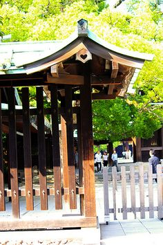 Meiji Jingū's kamon, a lovely Heart