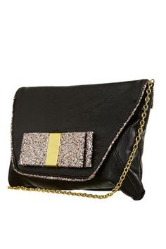 Glitter Bow Clutch Bag - StyleSays