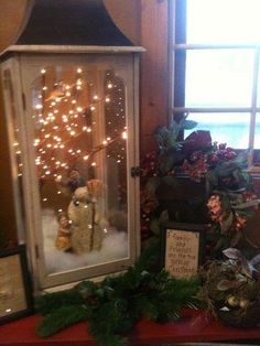 I want to try this with a Christmas figurine and use the outdoor candle holders…