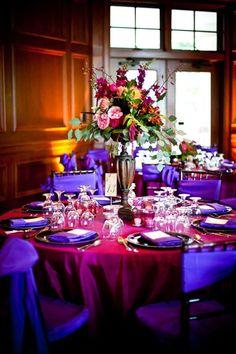 Image result for fuschia orange and purple wedding