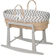 Photo of the Moses Basket- Grey Chevron by Jolly Jumper