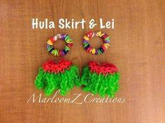 Rainbow Loom Hula Skirt or Grass Skirt: How To Video