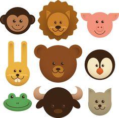 Sticker infantil cabezas de animales