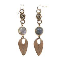 Heather Kahn Labradorite Drop Earrings