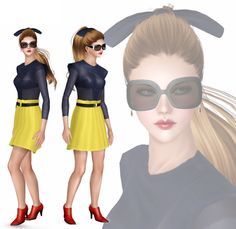 Female Clothes: Highway Dress - The Sims 3 Custom Content