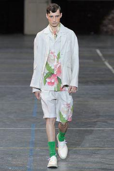 Look 39 Kenzo Spring 2012 Menswear  #botanical #print