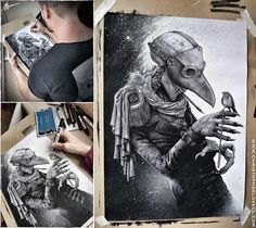 Scary Drawings With Amazing Details By Christopher Lovell