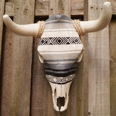 Hand Painted Cow Skull || theseekershop.com