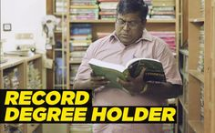 Extreme Education - Indian Man Obtains 145 Academic Degrees in 30 Years - http://www.odditycentral.com/news/extreme-education-indian-man-obtains-145-academic-degrees-in-30-years.html