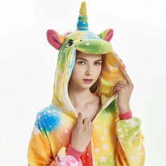 Women Soft Fleece Star Unicorn Onesies – alfagoody Disney Halloween, Unicorn Halloween, Unicorn Costume, Halloween Costumes For Girls, Girl Costumes, Cosplay Costumes, Halloween Christmas, Costume Halloween, Men Cosplay