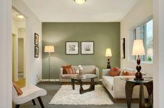 wohnzimmer grüne farbtöne olivgrün