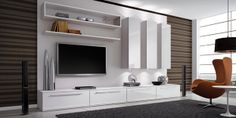 painel Home theaters Home Theater - Larissa Ferreira - Painel Home, Home Theather, Tv Cabinets, Entertainment, Tv Unit, Home Decor Inspiration, My Room, Decorating Your Home, Living Room Designs