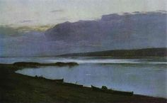 Evening on the Volga by Isaac Levitan