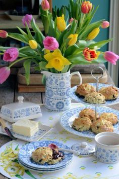 Afternoon tea in Chipping Campden a village in the Cotswolds, England.