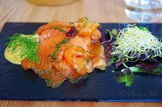 Gravlax saumon marine a l'aneth